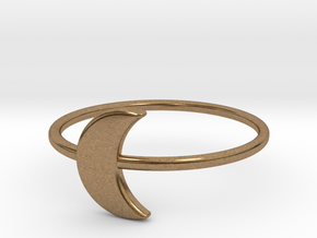 Moon Midi Ring 16mm inner diameter by CURIO in Natural Brass