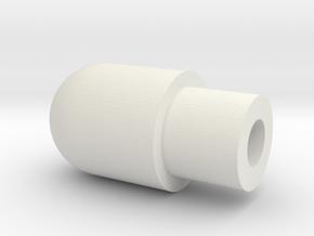 8 mm pitot head in White Natural Versatile Plastic