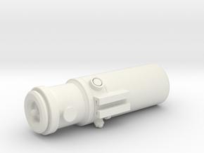 Droid Caller in White Natural Versatile Plastic