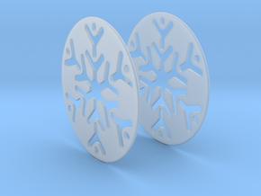 Snowflake 3 Hoop Earrings 50mm in Smooth Fine Detail Plastic