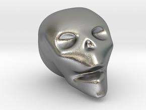 Skull Mini in Natural Silver