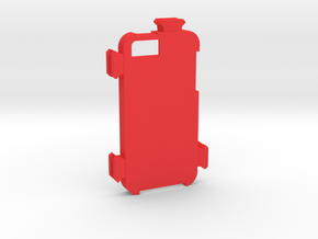 iPhone 5 Picatinny Case (Side Rails) in Red Processed Versatile Plastic