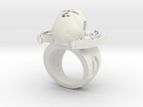 new skull ring in White Natural Versatile Plastic