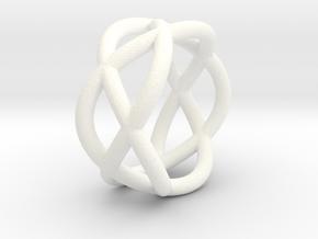 Napkin Ring Pretzel medium in White Processed Versatile Plastic