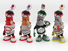AmznGraffiti the Customized 3D printedDesk toy in Full Color Sandstone