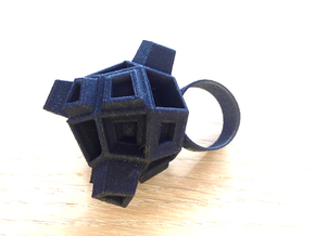 Blocky Ring in Black Strong & Flexible