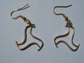 Silhouette Earrings in Natural Bronze
