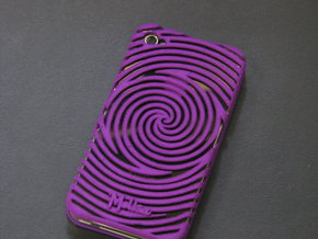 IPhone 4/4S - Swirl Case in White Strong & Flexible