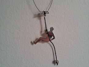 Climber in Fine Detail Polished Silver