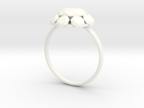 Diamond Ring US Size 7 UK Size O in White Processed Versatile Plastic