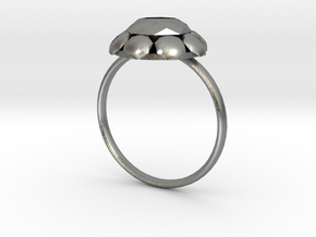 Diamond Ring US Size 7 UK Size O in Natural Silver