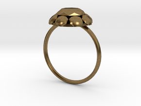 Diamond Ring US Size 7 UK Size O in Natural Bronze