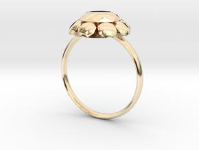 Diamond Ring US Size 7 UK Size O in 14K Yellow Gold