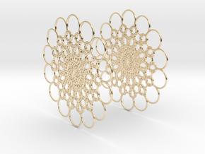 Flowerish 10 Big Hoop Earrings 60mm in 14K Yellow Gold