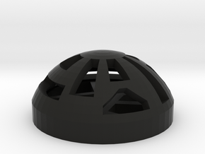 Button Dome in Black Natural Versatile Plastic