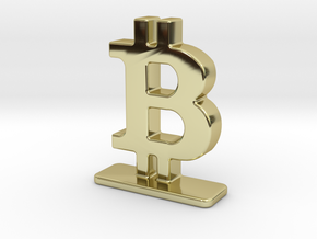 Bitcoin Stand in 18k Gold