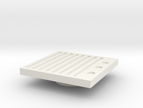 Blanking Grate #2 (n scale) in White Strong & Flexible