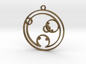 Chloe - Necklace in Raw Bronze