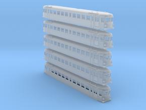Triebwagen 4042 160 5x in Smooth Fine Detail Plastic