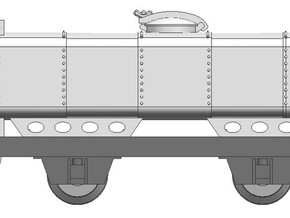Deutsche Heeresfeldbahn tankwagon H0e in Frosted Ultra Detail