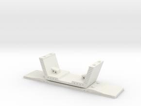 HO/1:87 Precast concrete bridge segment (small/no  in White Natural Versatile Plastic