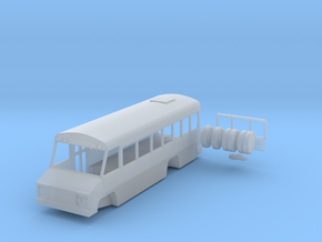 N scale 1:160 Blue Bird Mini Bird school bus in Smooth Fine Detail Plastic
