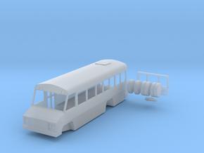 N scale 1:160 Blue Bird Mini Bird school bus in Frosted Ultra Detail