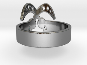 AKOFENA Ring Size 7.75 in Fine Detail Polished Silver