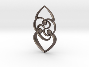 Celtic rose in Polished Bronzed Silver Steel
