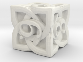 Celtic D6 - Solid Centre for Plastic in White Natural Versatile Plastic