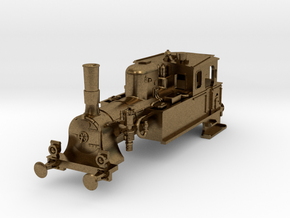 DSB F class N scale (funnel shaped extended tender in Natural Bronze