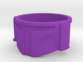 Bounty Hunter Helmet Ring in Purple Processed Versatile Plastic