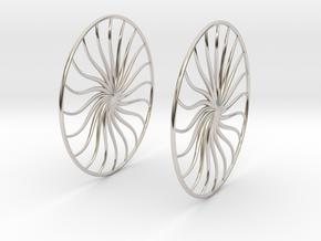 Flowerish 4 Big Hoop Earrings 60mm in Platinum