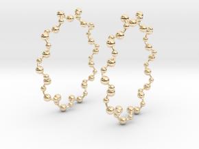 Molecule Big Hoop Earrings 60mm in 14K Yellow Gold