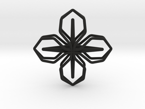 A-LINE Blossom, Pendant in Black Natural Versatile Plastic
