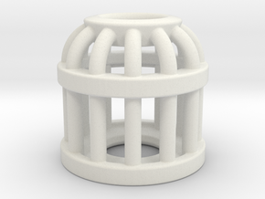 Birdcage Bead 2 (All Materials) in White Natural Versatile Plastic