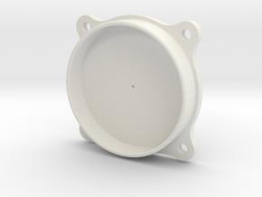 Small Japanese Instrument Bezel in White Natural Versatile Plastic