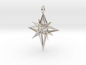 Christmas 3D Star in Platinum