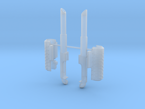 Extended Smoke Stacks MP-10 in Smooth Fine Detail Plastic