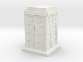 TT Type 40 Mark 1 TARDIS 1/87 Scale in White Natural Versatile Plastic