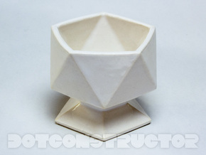 Icosahedral Cup in Gloss White Porcelain