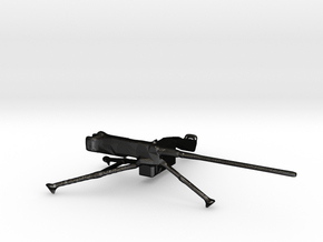 M2 Browning 50cal Tripod Mounted 1:35 Scale in Matte Black Steel