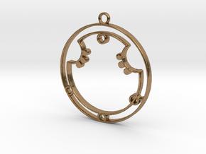 Aurora - Necklace in Natural Brass