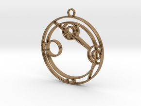 Angelina - Necklace in Natural Brass