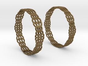 Wired Beauty 2 Hoop Earrings 50mm in Natural Bronze