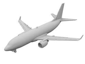 1:500 - 737-300_Winglets [Sprue] in Frosted Ultra Detail
