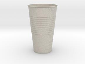 Mini Plastic Cup in Natural Sandstone