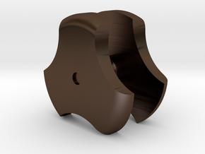 Vader Rots Saber Clover Dual in Polished Bronze Steel