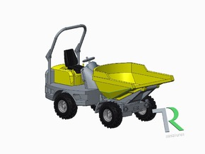H0 1:87 Dumper in Smooth Fine Detail Plastic
