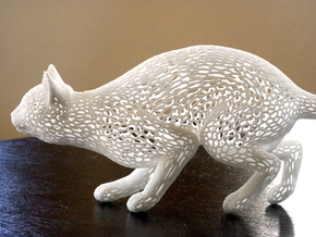 Hunting Cat in White Natural Versatile Plastic